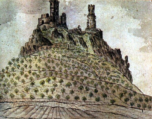 Házmburk v roce 1833
