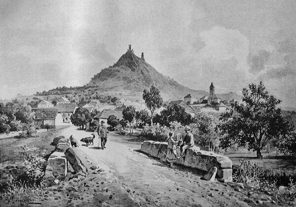 Házmburk a obec Klapý ve 2. polovině 19. st.