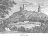 Hrad Házmburk v roce 1841