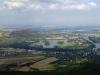 Pohled z Lovoše na Žernosecké jezero